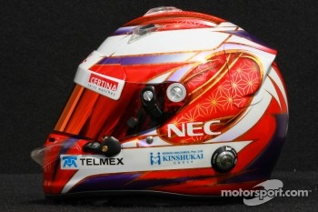 Kamui Kobayashi, Sauber F1 Team helmet 
