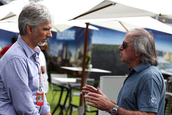 Damon Hill, SKY TV and Jacques Laffite, TFI TV