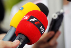 Sky Sports F1 microphone