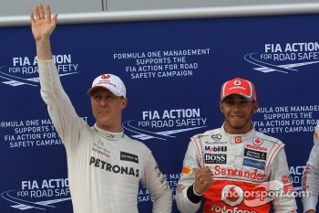 Qualifying results, Mercedes GP, pole position man 1st Lewis Hamilton, McLaren Mercedes Mercedes
