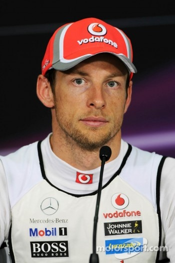 Jenson Button, McLaren Mercedes in the FIA Press Conference