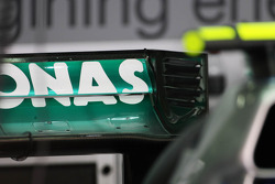 Mercedes GP W03 rear wing detail