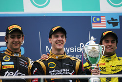 Podium: race winner James Calado, second place Esteban Gutierrez, third place Felipe Nasr