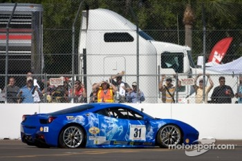 #31 Ferrari of Ontario 458CS: Damon Ockey crashes