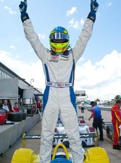 Tristan Nunez Celebrates Race #1 Victory