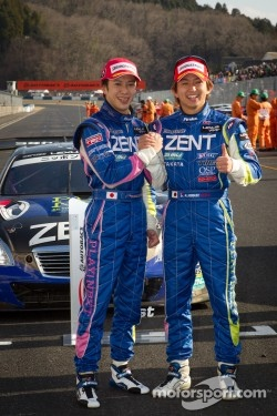 Race winners Yuji Tachikawa and Kohei Hirate