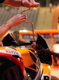 Repsol Honda team member at work