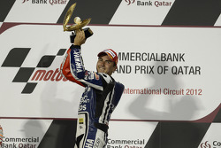 Podium: race winner Jorge Lorenzo, Yamaha Factory Racing celebrates