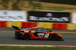 #11 Leipert Motorsport Lamborghini Gallardo LP600: Filip Sladecka, Gerhard Tweraser and #15 Sainteloc Racing Audi R8 LMS: Jerome Demay, Dino Lunardi