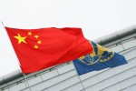 Chinese and FIA flags