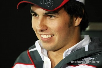 Sergio Perez, Sauber F1 Team in the FIA Press Conference