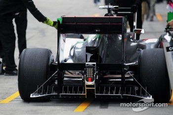 Aero sensor device on the rear of the McLaren of Lewis Hamilton, McLaren Mercedes