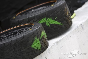 Rain tires at the ready