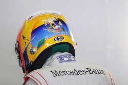 Lewis Hamilton, McLaren with Shanghai themed helmet