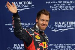 Qualifying results, 1st place Sebastian Vettel, Red Bull Racing
