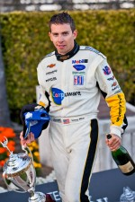 ALMS GT podium: winner Tom Milner