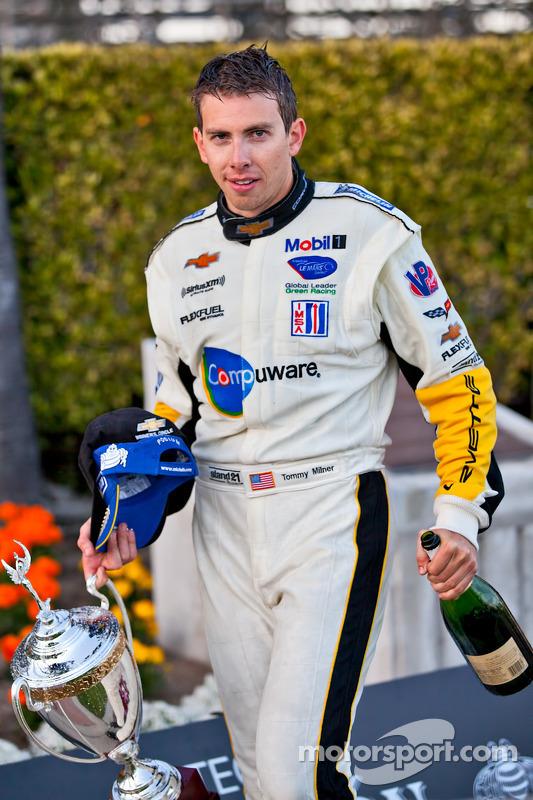 ALMS GT podium: winner Tom Milner