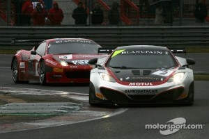 GT3 cars on track at Zolder