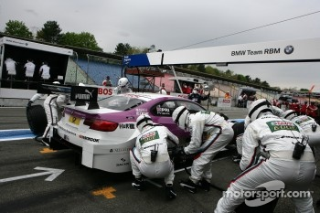 Pitstop Andy Priaulx, BMW Team RBM BMW M3 DTM