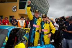 Victory lane: GS and overall winners Matt Plumb and Nick Longhi celebrate