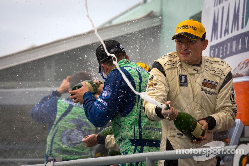 ST podium: champagne celebrations