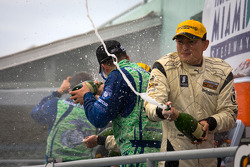 ST podium: champagne celebrations