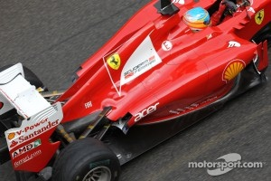 Ferrari exhaust and rear wing