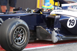 Bruno Senna, Williams F1 Team with an aero device on the side of the car