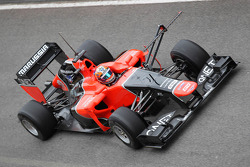 Timo Glock, Marussia F1 Team with aero device