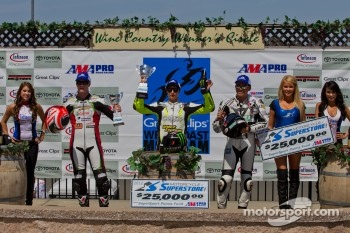 SuperSport Race #2 Podium: First place James Rispoli, Second place Dustin Dominguez, Third place Tomas Puerta
