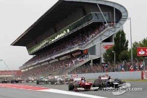 Start of Spanish Grand Prix in Barcelona, 2012