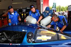 #90 Spirit of Daytona in the garage