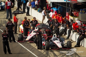 Will Power, Verizon Team Penske Chevrolet and Ryan Briscoe, Team Penske Chevrolet