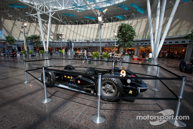 Indycar display at Indianapolis International Airport