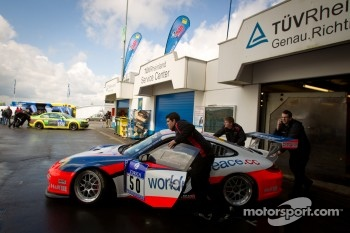 #50 raceunion Teichmann Racing Porsche 911 GT3 Cup at technical inspection