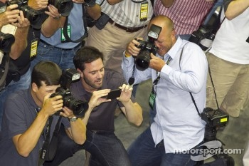 Jimmie Johnson joins the photographers
