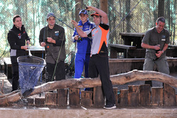 Craig Lowndes and Mark Winterbottom go fishing