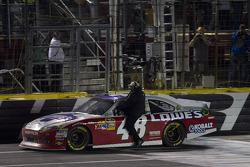 Rick Hendrick rides with winner Jimmie Johnson, Hendrick Motorsports Chevrolet