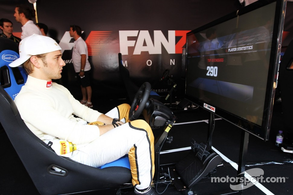 Dani Clos, HRT Formula One Team Test Driver at the Fanzone