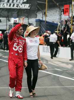 Dario Franchitti, Target Chip Ganassi Racing Honda and Ashley Judd