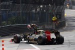 Romain Grosjean, Lotus F1 crashed out at the start of the race
