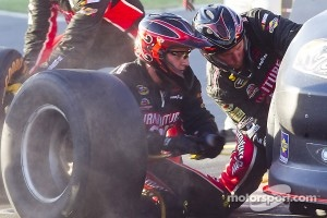 Regan Smith comes in for a pitstop