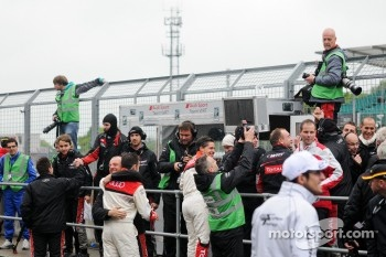 Audi Team WRT celebrate