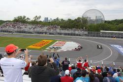 Lewis Hamilton, McLaren Mercedes waves to the fans