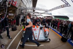 Pit stop practice for #15 Oak Racing Oak Pescarolo Judd: Franck Montagny, Bertrand Baguette, Dominik Kraihamer