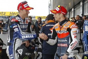 Ben Spies, Yamaha Factory Racing and Casey Stoner, Repsol Honda Team