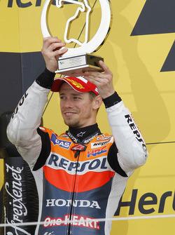Podium: second place Casey Stoner, Repsol Honda Team
