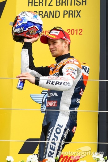 Podium: second place Casey Stoner, Repsol Honda Team