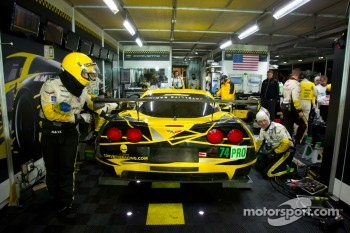 #74 Corvette Racing Chevrolet Corvette C6 ZR1 in the garage