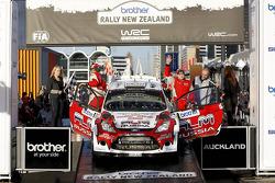 Podium: Evgeney Novikov and Denis Giraudet, Ford Fiesta RS WRC